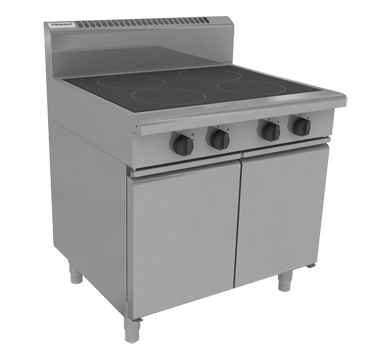 waldorf 800 series in8400e-cb - 900mm electric induction cooktop - cabinet base
