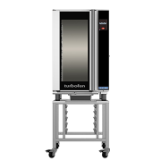 turbofan eht10-l - 10 tray 1/1 gn electric undercounter touch screen extended hot holding cabinet on a stainless steel stand
