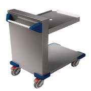 aladdin temp-rite evtrayext - tray dispenser trolley