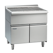 waldorf 800 series sfl8900-cd - 900mm solid fuel grill - low back version - cabinet base with doors