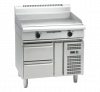 waldorf 800 series gpl8900e-rb - 900mm electric griddle low back version - refrigerated base