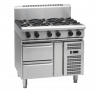 waldorf 800 series rn8600g-rb - 900mm gas cooktop  refrigerated base
