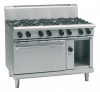 waldorf 800 series rnl8810gec - 1200mm gas range electric convection oven low back version